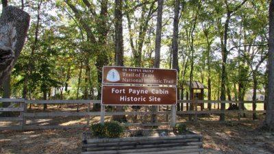 John Huss Cabin well- Fort Payne Cabin Historic Site. Fort Payne, Alabama