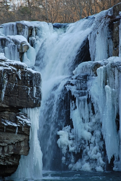 Highfalls Park-Dekalb County, Beautiful Alabama Waterfalls Frozen