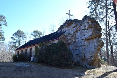 Church Built Around a Rock (Sallie Howard Memorial Chapel )