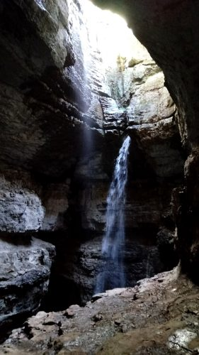 Stephens Gap Cave is a cave waterfall located in Jackson County, near Woodville, Alabama. Stephens Gap Cave is a spectacular 143-foot vertical waterfall that drops into a pit cavern. Stephens Gap Cave is one of the most beautiful waterfalls in Alabama.