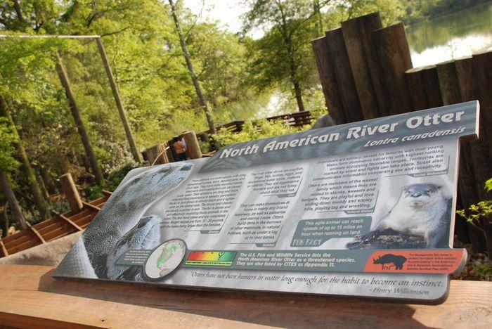 Montgomery Z00, Montgomery, Alabama- otter sign