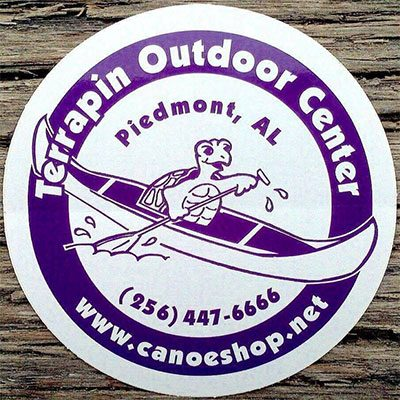 Terrapin Outdoor Center- Kayak and Canoe Sales Rentals on Terrapin Creek in Piedmont, Alabama in Calhoun County