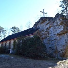 Church Built Around a Rock-Sallie Howard Memorial Chapel -Mentone, Alabama