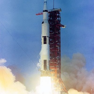 The launch of Apollo 10 on Saturn V AS 505